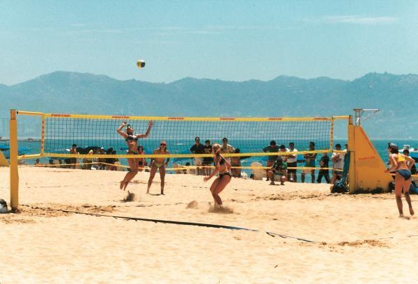 Beachvolleyball-Turniernetz ohne DVV-Prüfzeichen